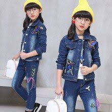 Children's wear cowboy suit 2018 <b>spring and autumn new</b> baby girl ...