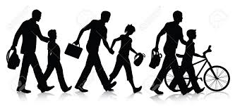 Image result for kids walking to school clipart