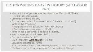 how to write the long essay question ap european history mrs tips for writing essays in history ap class or not always think of your