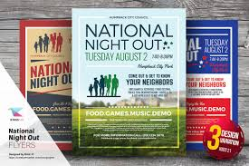 national night out flyer templates flyer templates on creative national night out flyer templates flyer templates on creative market