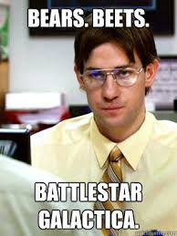 Jim Halpert: Question. What kind of bear is best? Dwight Schrute ... via Relatably.com
