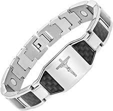 Titanium - Bracelets / Men: Jewelry - Amazon.ca
