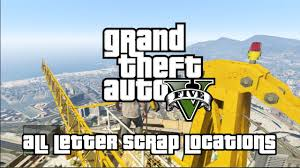 Grand Theft Auto V - All Letter Scrap Locations (A Mystery, Solved ...