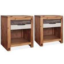 <b>Bedside Table</b> Solid Acacia Wood 40x30x48 cm Sale, Price ...