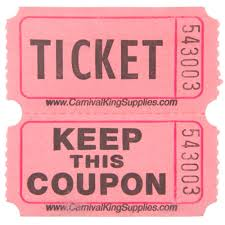 carnival king pink part raffle tickets roll main picture