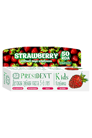 Kids' choice - PRESIDENT Kids Strawberry <b>3-6 зубная паста</b> со ...