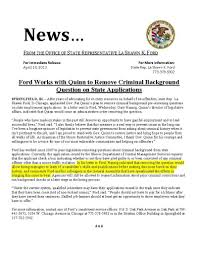la shawn k ford ford works quinn to remove criminal 634
