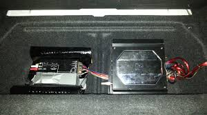 installing a sub stock bmw stereo system for the remote input on the amp and crossover i tapped into the fuse box in the trunk since everything in there turns on when you unlock the doors