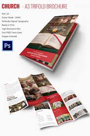 popular church brochure templates designs premium a3 trifold church brochure template