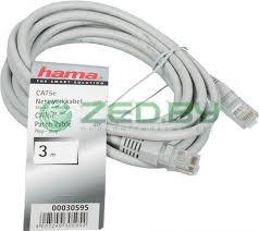 <b>Сетевой кабель Hama Patch</b> Cord cat.5e UTP (RJ45) 3m H-30595 ...