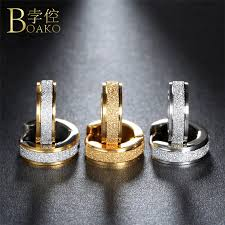 <b>BOAKO</b> Aros 316L <b>Stainless Steel Earrings</b> for Women Men Fashion ...