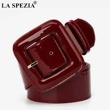 Online Shop <b>LA SPEZIA</b> Wide Ladies Belts Black Patent <b>Leather</b> ...