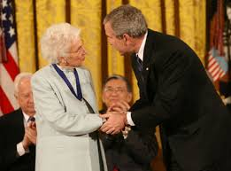 「Jean Fritz given the National Humanities Medal, by President George W. Bush」の画像検索結果