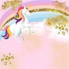 Amazon.com : <b>Laeacco</b> 5x5ft Pink <b>Unicorn</b> Photography Backdrop ...