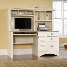 cool white colored home office desk designed in minimalist style and computer desk with hutch concept amazing office desk hutch