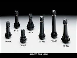 вентиль для бескамерных шин главдор 14 цвет серебристый черный 4 шт