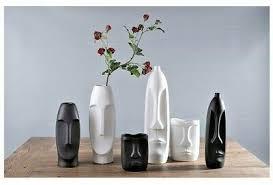 New Abstract <b>Nordic Minimalist Ceramic Vase</b> Black White Creative ...