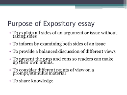 """expository essay writing context  """"encountering conflict""""   ppt    purpose of expository essay to explain all sides of an argument or issue  out taking sides"""