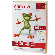 <b>Бумага цветная CREATIVE</b> color (<b>Креатив</b>) А4, 80 г/м2 – купить по ...