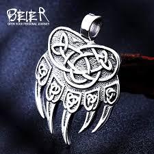 beier 316l stainless steel nose viking scandinavian odin s symbol valknut for men wedding ring cool fashion jewelry lr r093