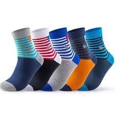 (<b>5 Pairs</b>) Colored <b>Striped</b> Men Socks Casual Anchor <b>Fashion</b> Brand ...