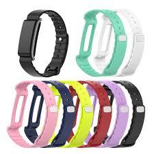 MEIYIN <b>Silicone Smartwatch</b> Bands <b>Replacement</b> Bracelet Band ...