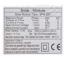 TUV Paneau Solaire Puissant <b>24v 200w</b> 5 Pcs Panneaux Solaires ...