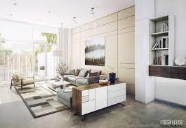bright living room white