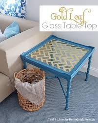amazing technique for applying gold leaf to a glass table top on remodelaholiccom amazing glass table top