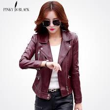 <b>Pinky Is Black</b> Fashion 2018 <b>Women</b> Leather <b>Coat</b> – TuneUp Trends