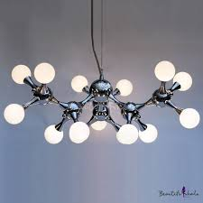 <b>Modern DNA</b> Chrome <b>Pendant</b> Light 15-light - Beautifulhalo.com