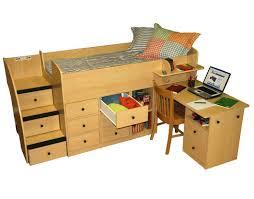 full size low loft with dresser bunk bed dresser desk
