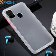 For Galaxy M30s Skin Hand Feeling <b>Anti fall Frosted PC TPU</b> Case ...