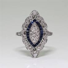 Винтажное <b>кольцо с голубым</b> камнем Роскошные Кристаллы ...