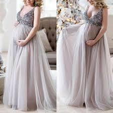 Elegant Glitter Sequins Pregnant Women Evening Party ... - Vova