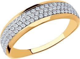 <b>Кольцо</b> SOKOLOV, золото 585, <b>фианит</b>, 17, 18005