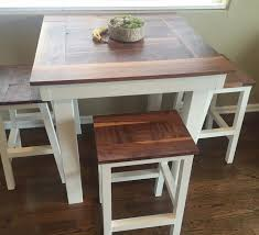 table bar height chairs diy: bar height table with stools do it yourself home projects from ana white
