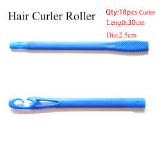 <b>18pcs</b>/<b>set</b> 30cm Plastic Long Diameter 2.5cm Magic <b>Hair Curler</b> ...