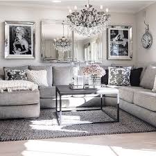 chic living room dcor: living room decor ideas glamorous chic in grey and pink color palette with sectional
