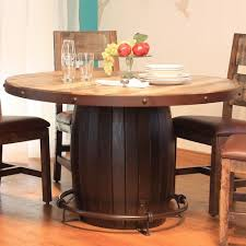 dining table artisan iron base artisan home  antique round dining table with barrell base and iron fo