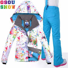 Online Shop GSOU SNOW <b>Brand Ski Suit Women</b> Waterproof Skiing ...