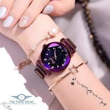 <b>Starry Sky Waterproof Watch</b> for Women Style-02 <b>watch</b>   Rose gold ...