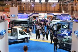 ford stand overview at the cv show commercial vehicle dealer ford stand overview at the cv show 2016