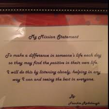 images about mission statements on  mission  my personal mission statement