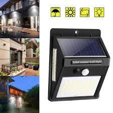<b>100 led solar light</b> pir motion sensor safety outdoor garden wall light ...