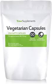 Your Supplements - <b>Size</b> 00 <b>Empty Vegetarian Capsules</b> - Pack of 250