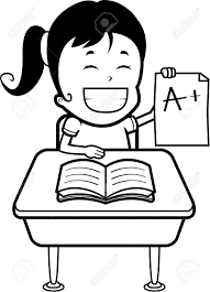a happy cartoon girl student good grades royalty a happy cartoon girl student good grades stock vector 43784018