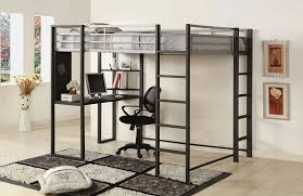 metal loft bed with desk underneath bed with office underneath