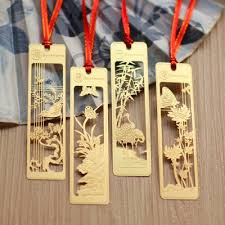 <b>4pcs</b>/<b>lot</b> Creative <b>Chinese</b> style gold metal bookmarks plum ...