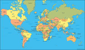 <b>World Map</b>: A clickable map of world countries :-)